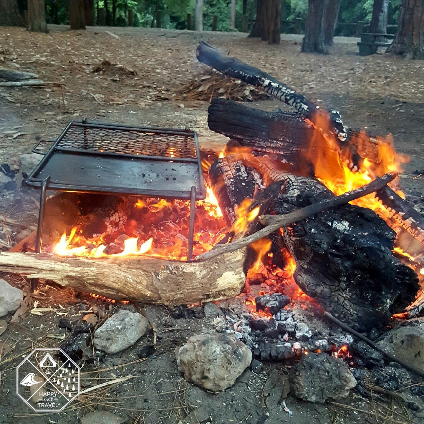 How to build a campfire | camp BBQ on the coals