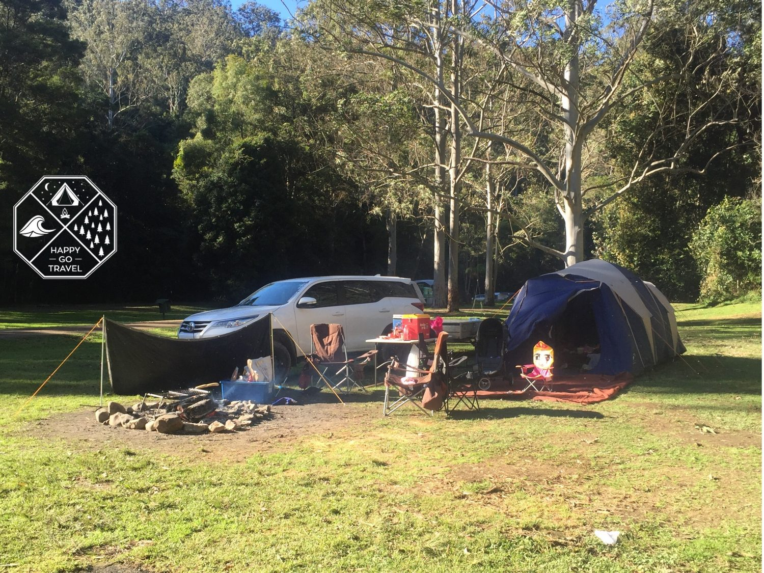 Toyota Fortuner camping Chichester State Forest