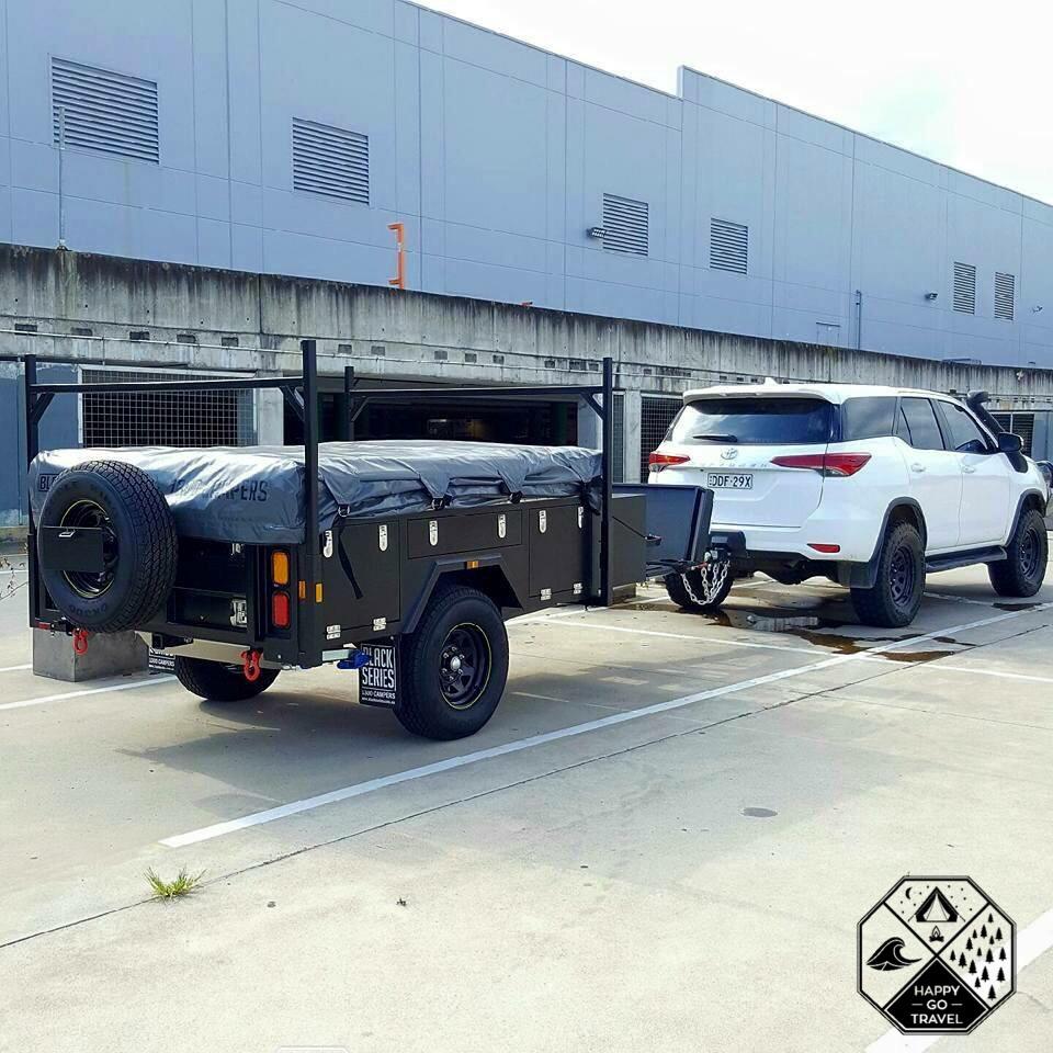 Black Series Alpha Camper trailer - Toyota Fortuner towing