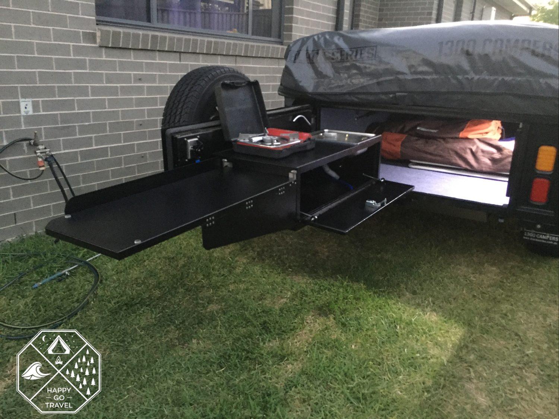 Black Series Alpha Camper trailer - Kitchen