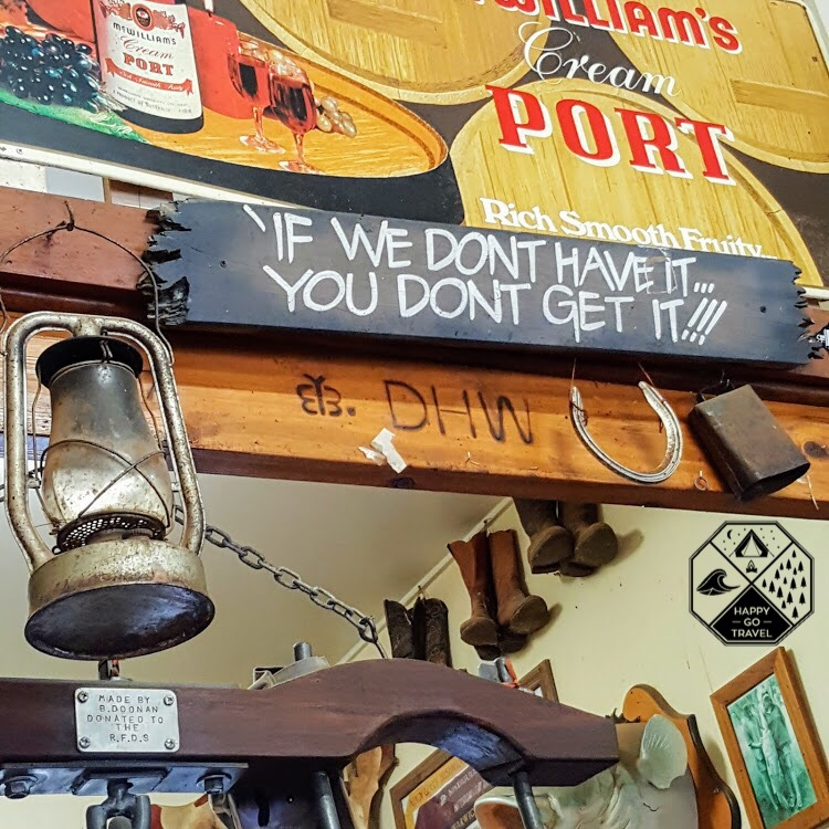 memorabilia inside the iconic Nindigully pub