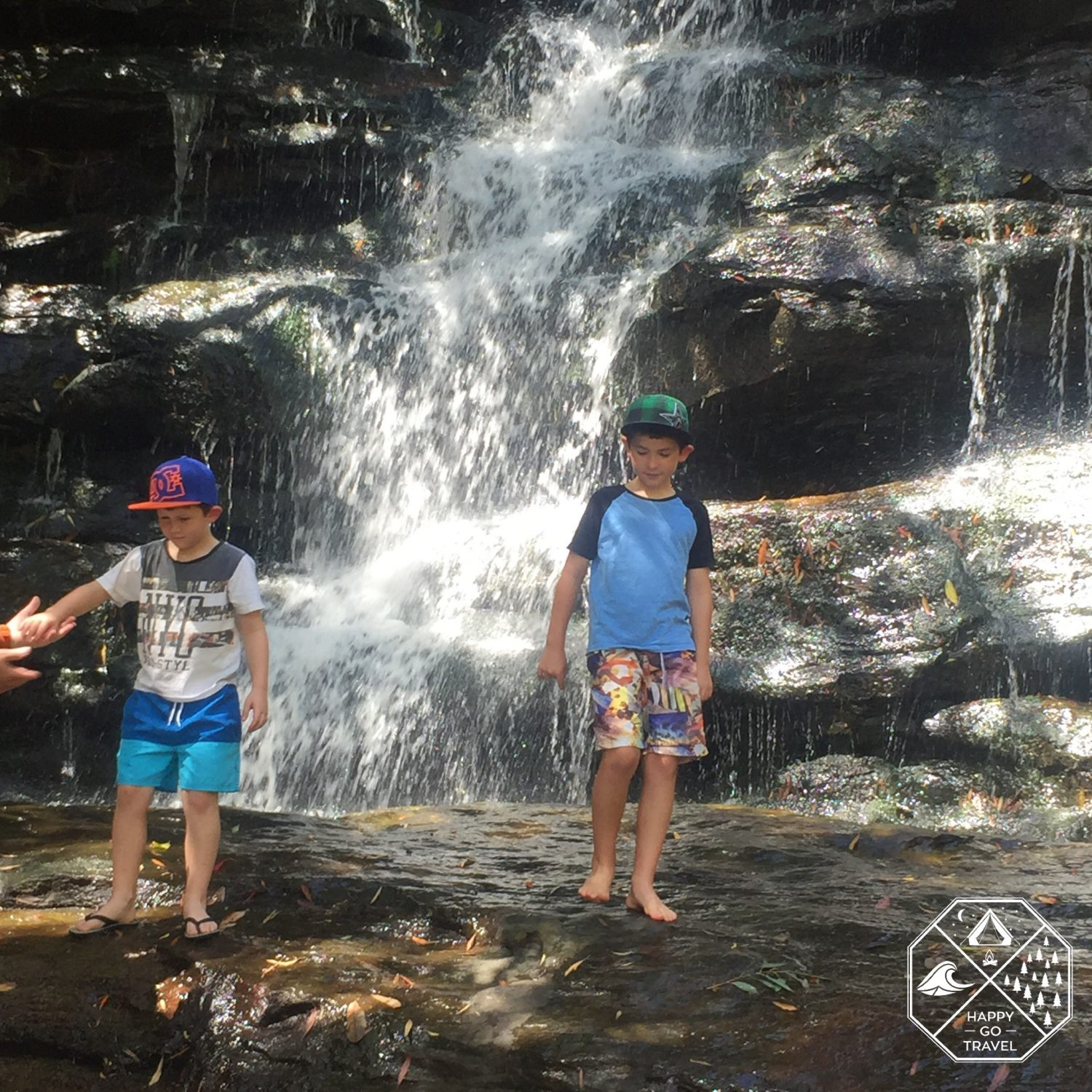 Somersby Falls Brisbane Water National Park Waterfalls | family playing in waterfalls