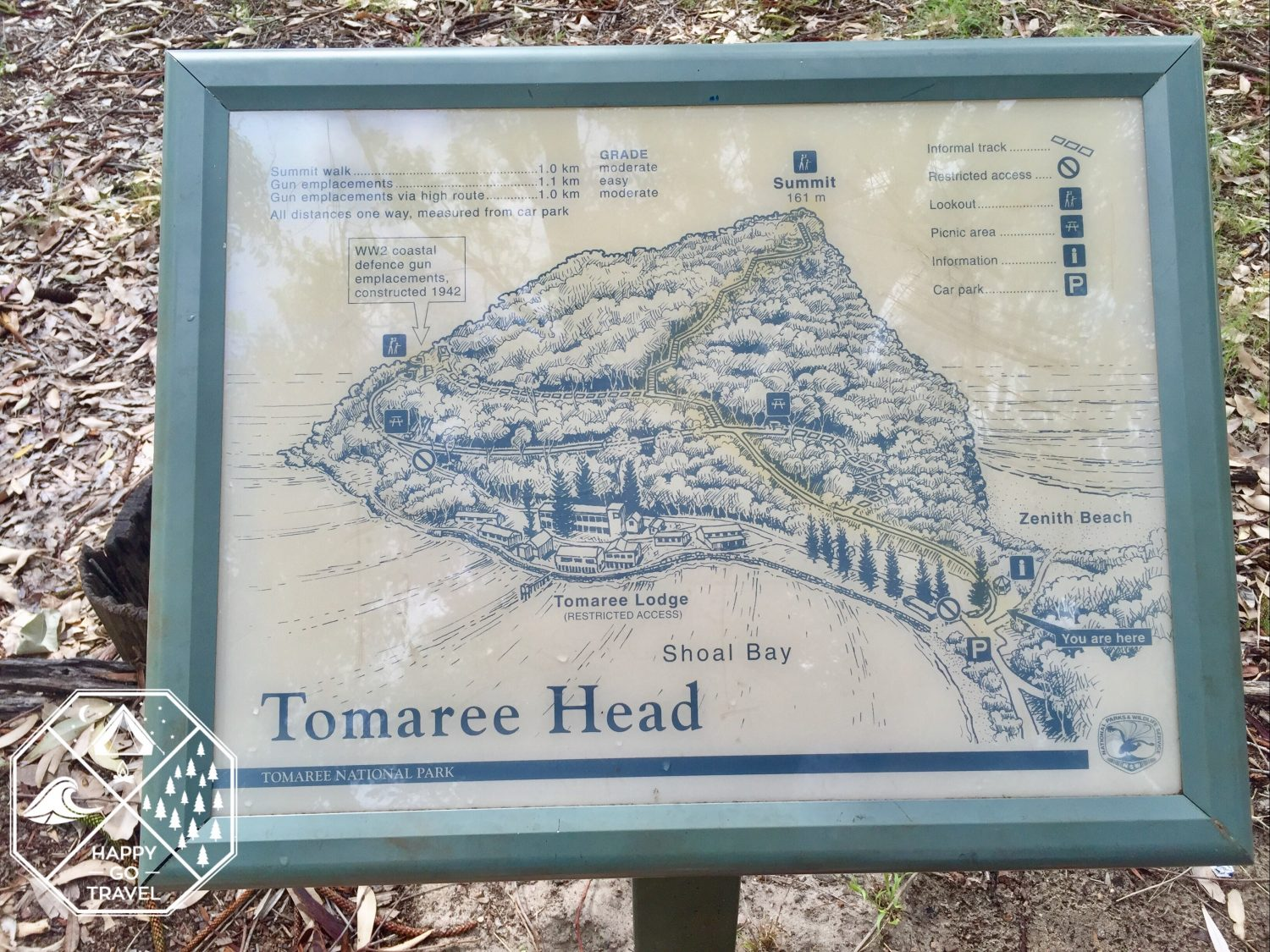Tomaree Head sign | Mount Tomaree, Port Stephens NSW
