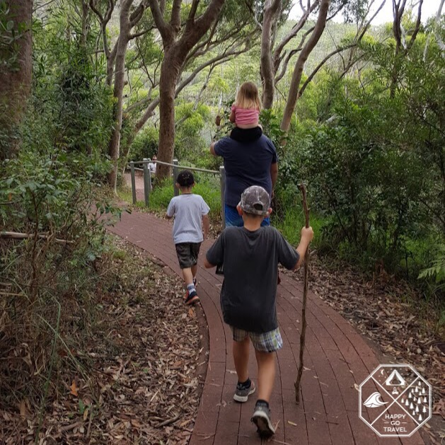 family hiking at Mount Tomaree, Port Stephens NSW