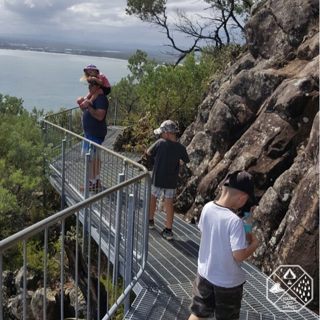 the view from the catwalks at Mount Tomaree, Port Stephens NSW
