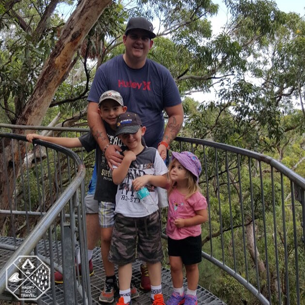 family hiking at Mount Tomaree, Port Stephens NSW | bush walk