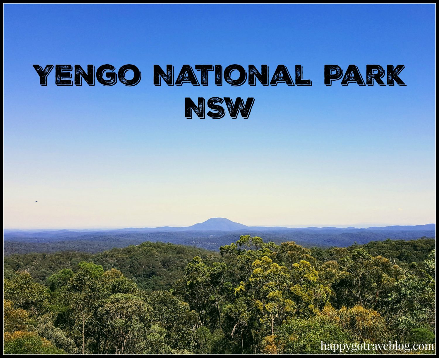 Yengo National Park - Finchley lookout view of the mountains