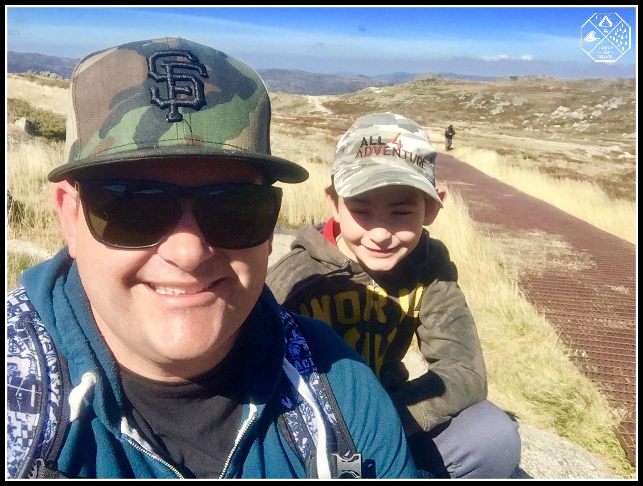 Hiking Mount Kosciuszko | father and son on the Mt Kosciuszko walkway
