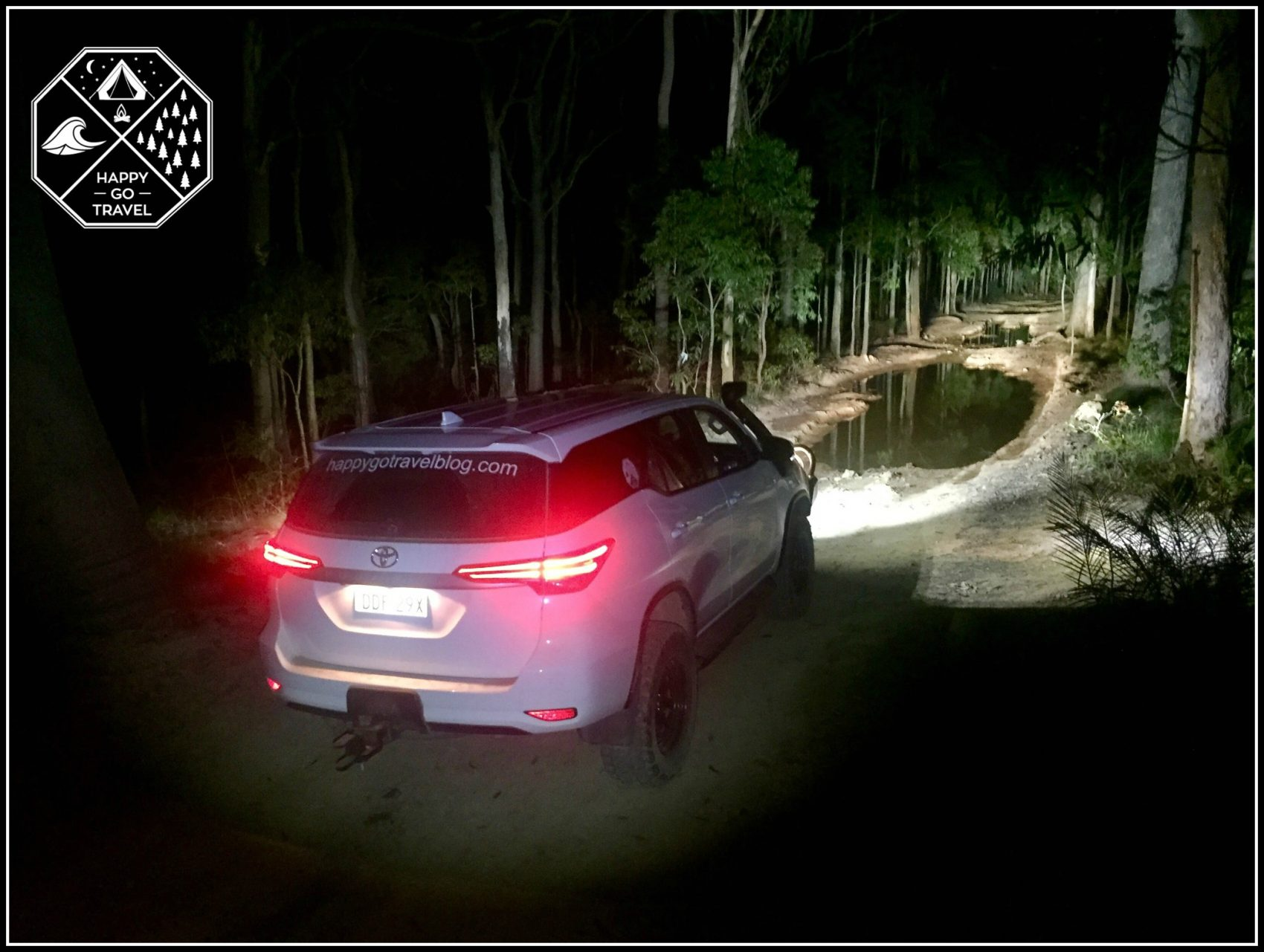 Toyota Fortuner off road at night with Stedi LED Light bars on | Stedi light bar review