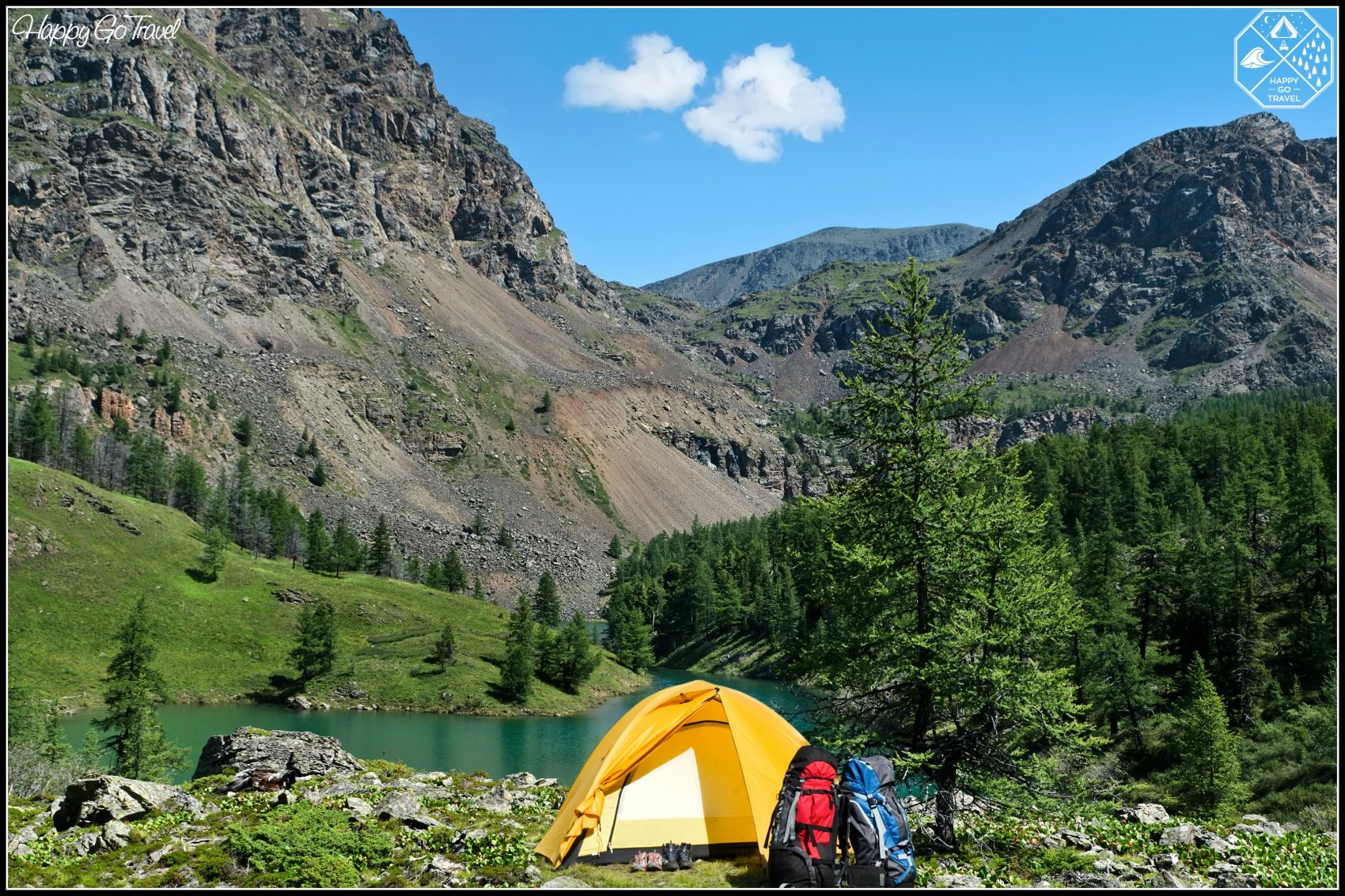 camping with kids essentials | tent in mountains