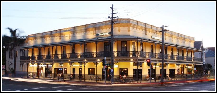 Royal Hotel Randwick exterior Sydney hotel