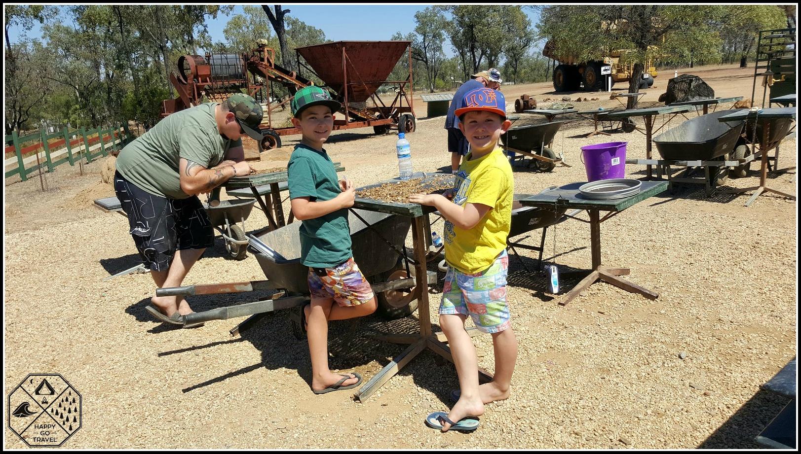 Sapphire fossicking in the Gemfields Central Queensland