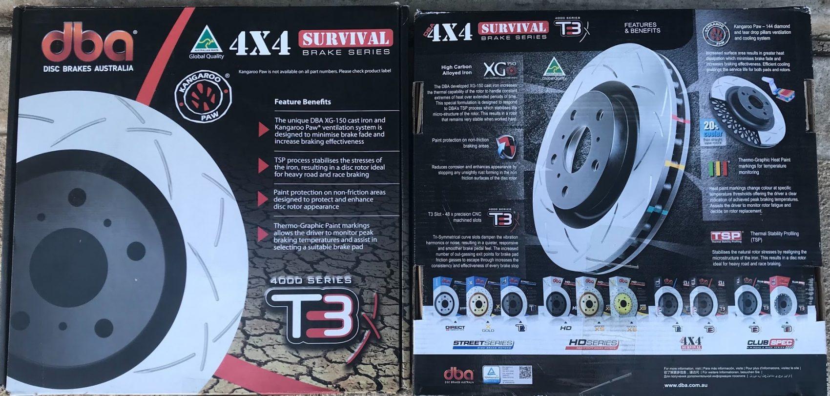 DBA T3 disc packaging, 4WD brake upgrade