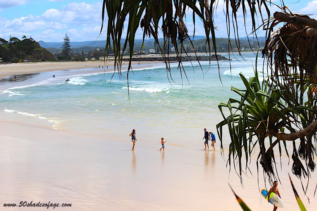 Gold Coast beach with people