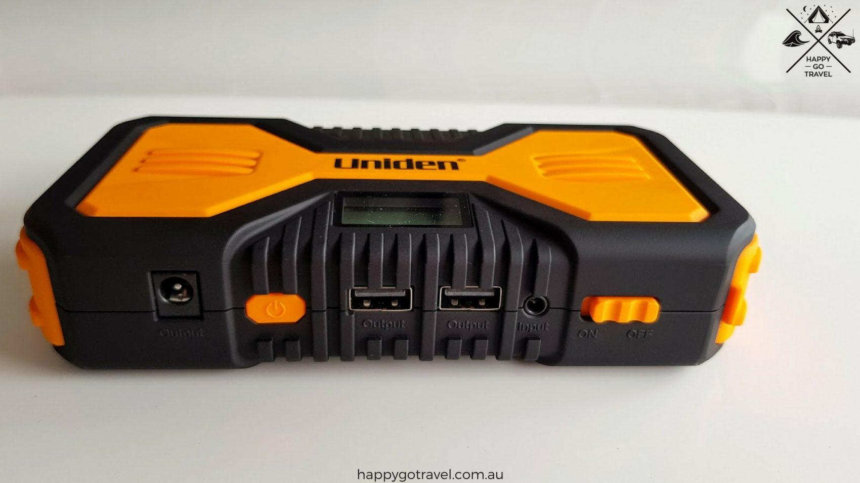 Uniden jump start kit USB ports