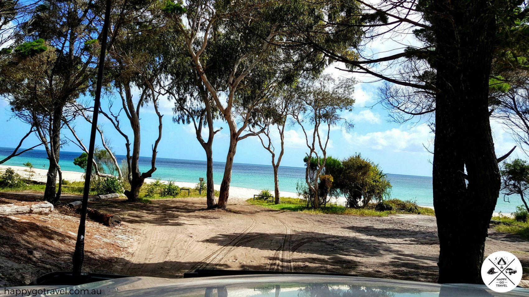 view of Fraser Island western beach