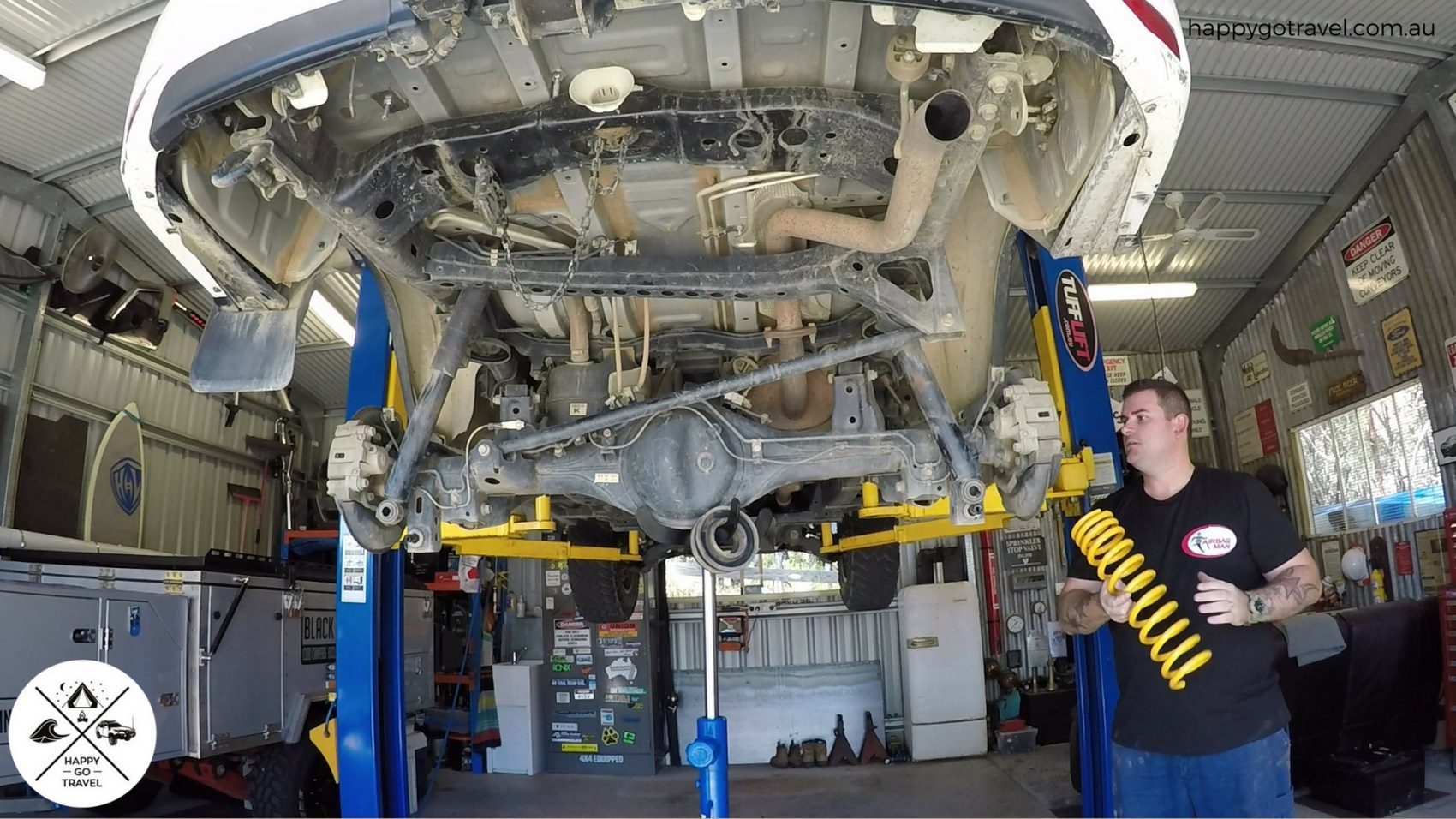 King Springs being installed to a Toyota Fortuner | 4WD spring load rating