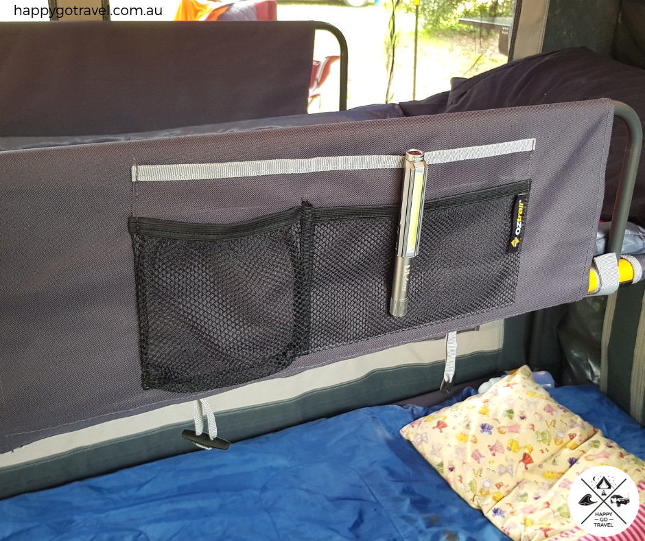 OZtrail stretcher beds storage